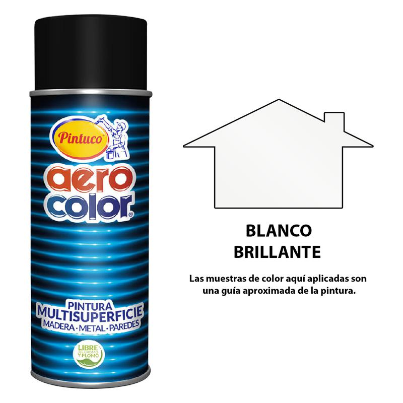 AEROCOLOR LACA BRILLANTE BLANCO 300ml125004-8 *