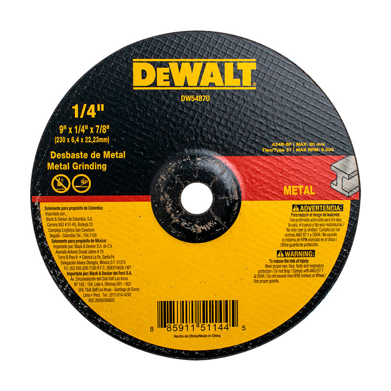 DISCO -DW- T-27  9- x 1/4-    DW54870-METAL 44870(25)