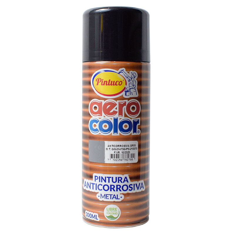 AEROCOLOR ANTICORROSIVO GRIS  300ml125008-8