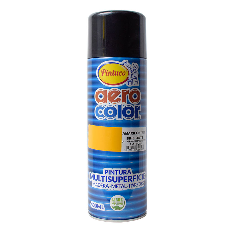 AEROCOLOR LACA BRILLAN AMARILLO TAXI 400ml 125068-12