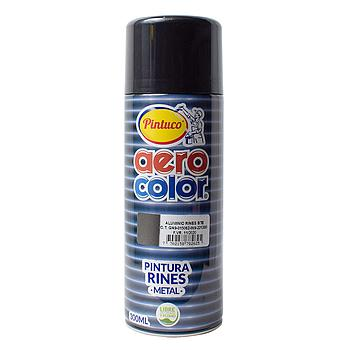 AEROCOLOR LACA BRILLANTE ALUMINIO RINES300ml (12)