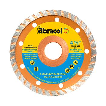DISCO DIAMANTADO -ABRACOL  4 1/2 TURBO25)